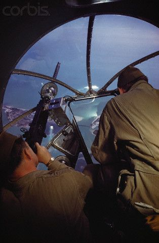 Gunners in Nose Turret of B-17 Bomber during World War II - 42-16656021 - Rights Managed - Stock Photo - Corbis