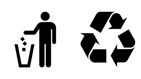 Recycling Recycle And Garbage Vinyl Decals For Your Bins