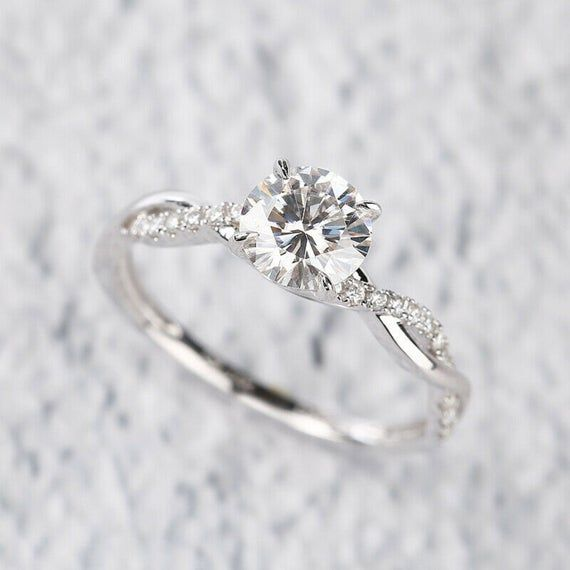 1.50Ct Round Cut D//VVS1 Diamond Solitaire Engagement Ring 14k Yellow Gold Over