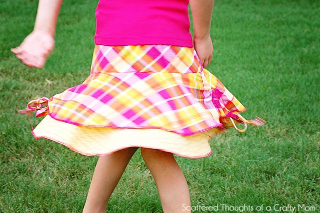 how to make a girls circle skirt