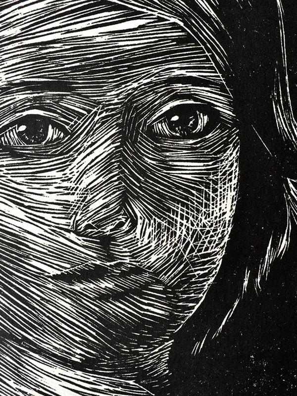 """""""O uso do preto e branco, o trabalho de entalhar a madeira, os veios e marcas…"""