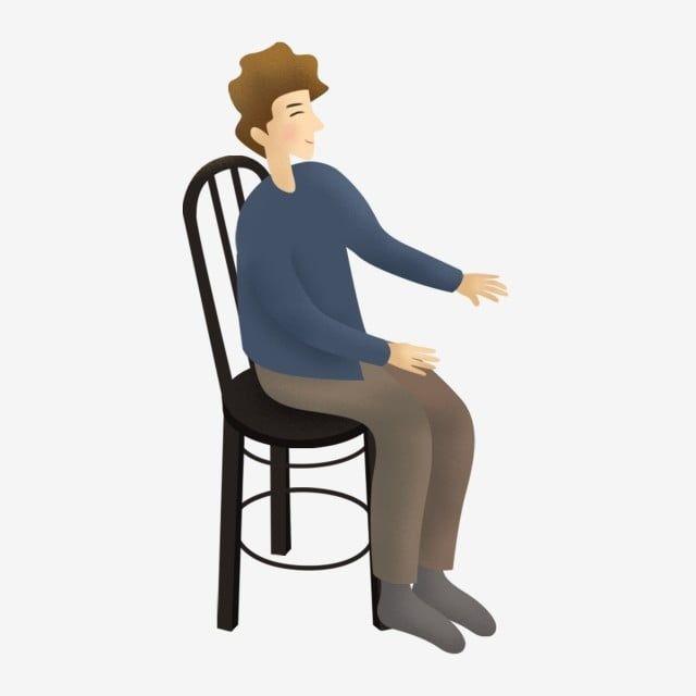 Gambar Anak Lelaki Kartun Yang Ditarik Tangan Duduk Di Atas Elemen Kerusi Pengerusi Kartun Hitam Png Dan Psd Untuk Muat Turun Percuma Kartun Anak Png