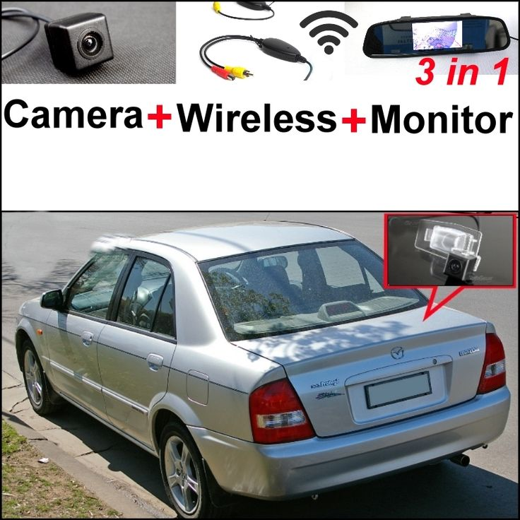 74.01$  Buy here  - 3 in1 Special Camera + Wireless Receiver + Mirror Monitor Easy DIY Back Up Parking System For Mazda Protege Protege 5