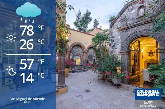 San Miguel de Allende Weather! ‪Very #cloudy‬, possibility of having some #rain  #weather #sanmigueldeallende #sma #mexico #gto