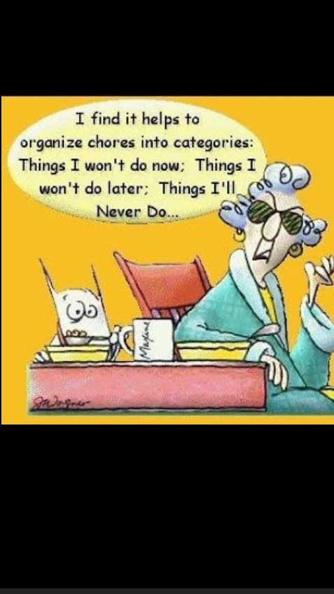 Organize work into 3 categories: Things I won't do Now, Things I won't do Later, & Things I will Never Do!!