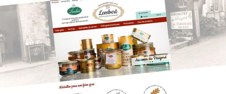 Boutique en ligne Maison Lembert #foiegras  #ecommerce #boutique #périgord #web #design #site - www.lembertfoiesgras.com