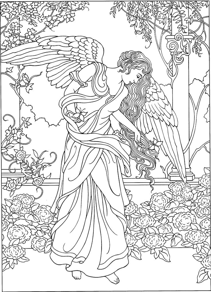 warrior angel coloring pages - photo#28