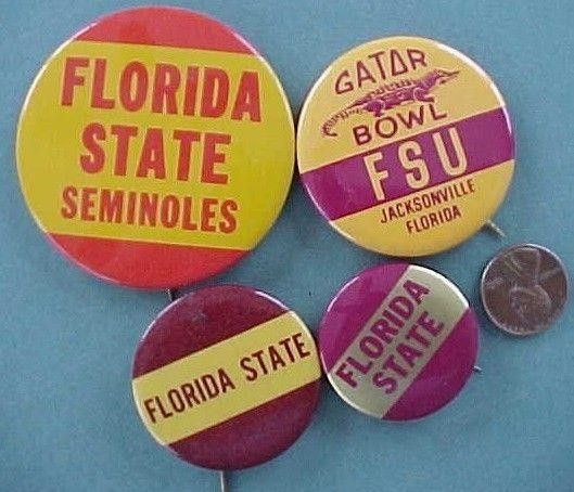 4 different Florida State University Seminoles Gator Bowl Football pins-VINTAGE! | #1788473634
