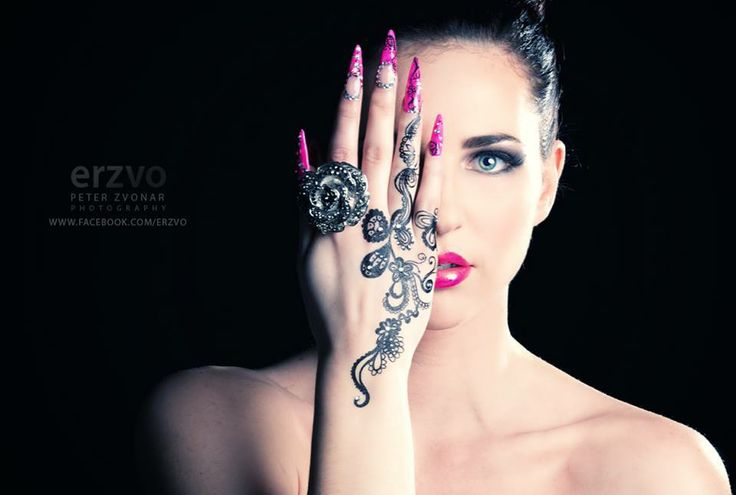 Pink Nails, Hand design, Beauty make up