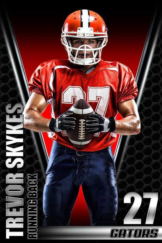 Player Banner Sports Photo Template - Honeycomb