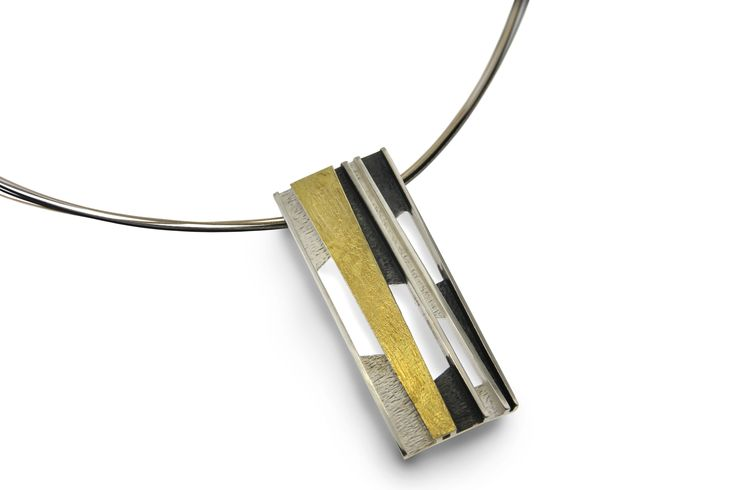 Pendant silver and gold  Audar collection Ref.20P1628 www.enrictorres.com