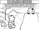 Colouring Image 89 - ROAD AND STREET SAFETY 05