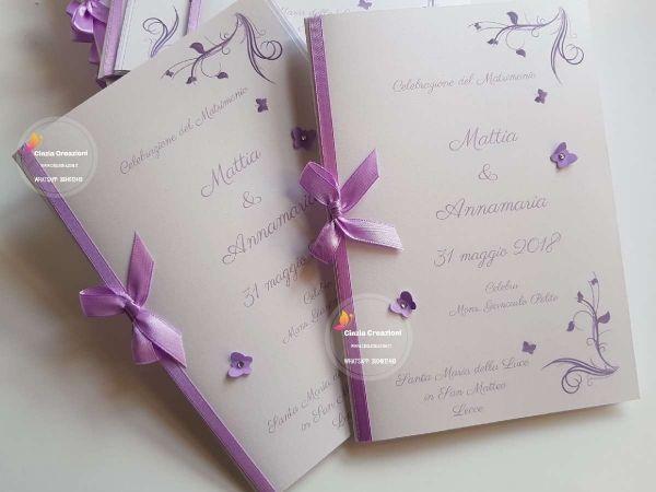 Libretto Messa Con Farfalle Libretto Matrimonio Matrimonio Messi
