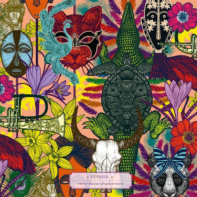Merveilleuse nature : un livre illustré par Michaël Cailloux et mis en verbe par Nathalie Béreau aux éditions Thierry Magnier #michaelcailloux #merveilleusenature #février #carnaval #mask
