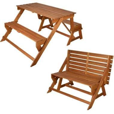 Esschert Design converteerbare bank/picknicktafel BL059