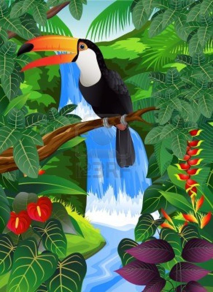 Stock Vector In 2019 Art Projects Artwork Jungle Art