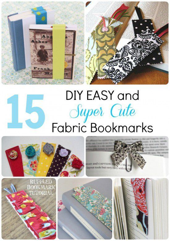 3 Easy Diy Storage Ideas For Small Kitchen: 15 DIY EASY And SUPER CUTE Fabric Bookmarks