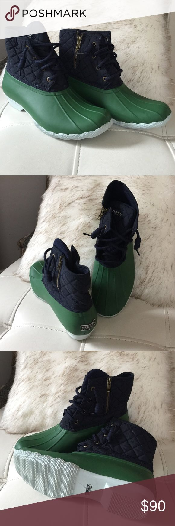 Sperry Top Sider Duck Boots (Brand New) Blue and Green Sperry Top Sider Sperry Top-Sider Shoes Winter & Rain Boots