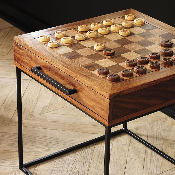Something Along These Lines For Living Room Side Table Checkers Chess Table  | CB2