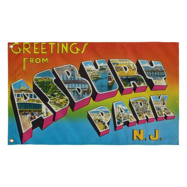 Rock out at your next Springsteen concert with this Greetings From Asbury Park Flag!
