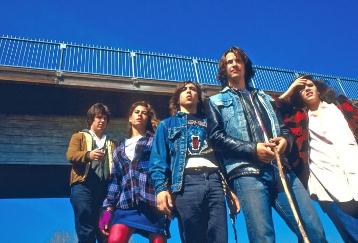 RIVER'S EDGE, Daniel Roebuck, Roxana Zal, Joshua Miller, Keanu Reeves, Ione Skye, 1986, (c) Island Pictures
