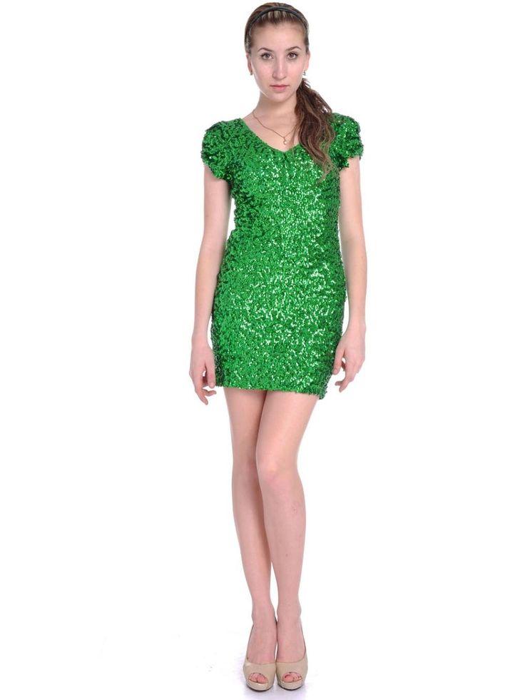 Women-Green-Sequined-