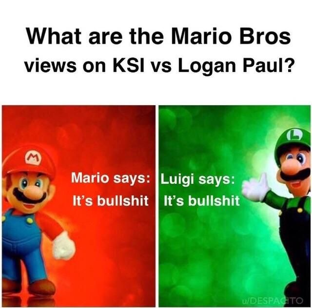 What Are Your Views On Ksi Vs Logan Mario Memes Funny