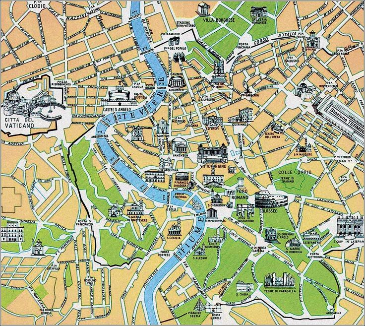 Image result for map of rome
