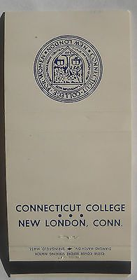 Connecticut College New London CT Matchcover