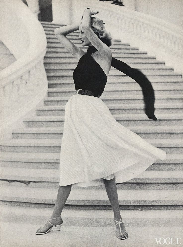 Sunny Harnett, photographed in the Caribbean by Frances McLaughlin-Gill, Vogue, May 15, 1951.
