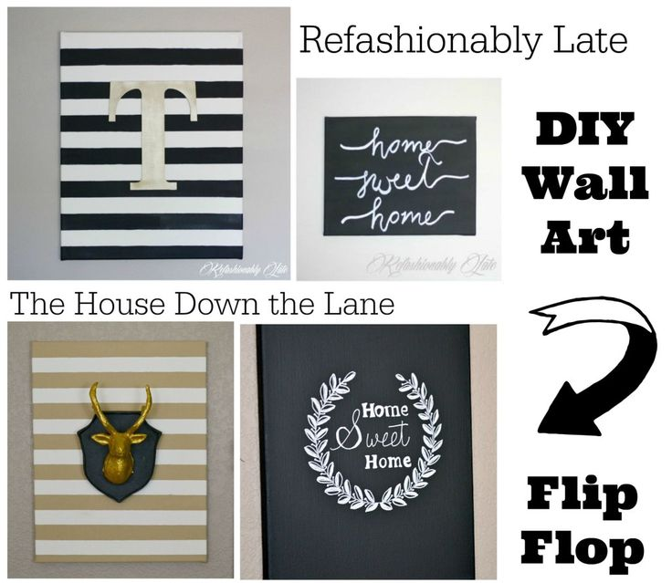 DIY Wall Art Flip Flop: Nature-Inspired Canvas Creations - The House Down the Lane