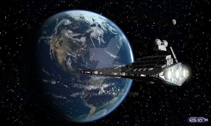 1 Star Wars - Star Destroyer and Earth Planet by cosovin.deviantart.com on @DeviantArt