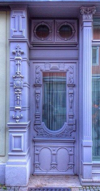 lavender doorway Weimar, Thuringia, Germany