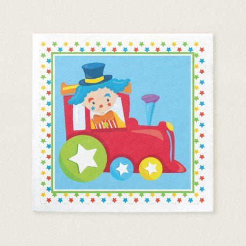 Clown | Circus Train Napkin