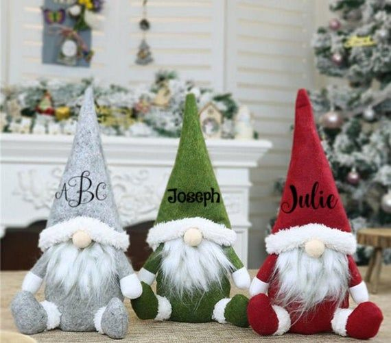 Gnome Personalized Christmas Ornaments