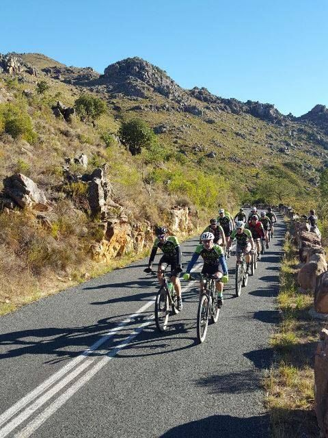 Tackling the steep and dangerous Bains Kloof Pass. Their hard work is for the animals and knowing that people are backing their undertaking for the FAW clinic Surgery keeps them going!  THANK YOU to everyone who donated - and the donations have even crept up overnight.  It is so easy with Back-A-Buddy: you can donate with credit card, EFT, or PayPal - all secure pages - and locally or from overseas (that tenner in your wallet is a lot of money in SA terms!).