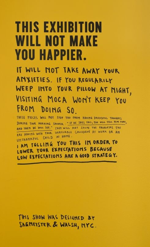 The Happy Show by Stefan Sagmeister (Sagmeister & Walsh)