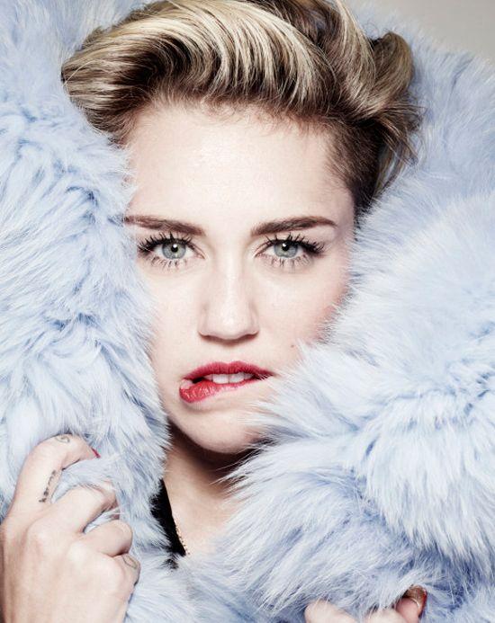 Miley Cyrus photography Rankin  fashion editor Anna Hughes Chamberlain  words Holly Fraser  coat Kenzo
