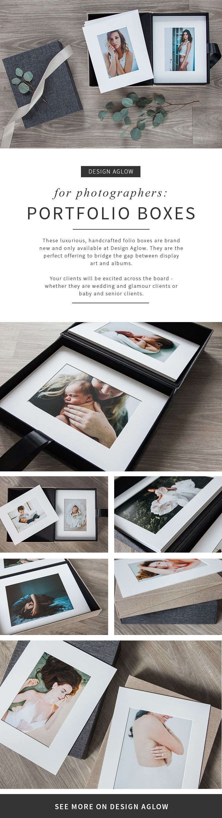 """""""The first time I opened a Design Aglow Folio Box, I was literally giddy because I felt that same flood of excitement. I KNEW that I had found a product that would fit well with my business model for a few reasons: • It was perfect for my higher end product line. • It was a great alternative to an album for clients who wanted to tuck their photos away but also occasionally display them. • It made a statement that screamed """"heirloom quality."""" • • • Read more about Nichole Rea's (of Nichole…"""