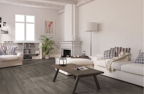Gray Laminate...I'm considering this for my house!