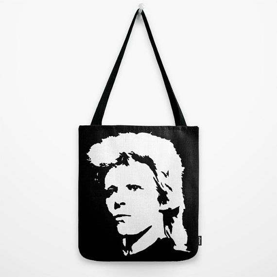 David Bowie Tote Canvas Tote Bag Custom Tote by MONOFACESoADULT