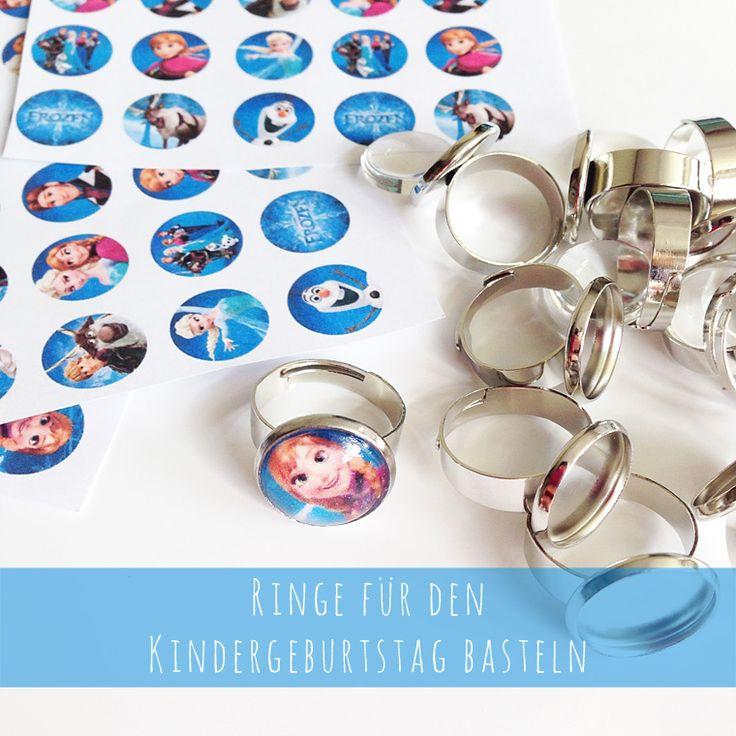"""Tutorial """"Ringe für den Kindergeburtstag basteln"""" & Ideen für eine Eiskönigin-Party"""