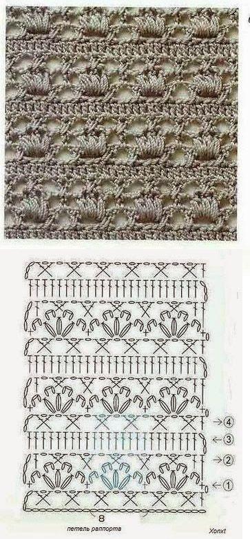 Crochet lace ground stitch ~~ bege 1 ༺✿Teresa Restegui http://www.pinterest.com/teretegui/✿༻