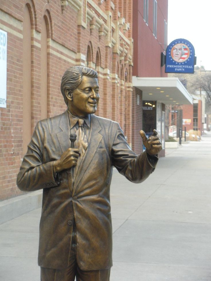 Bill Clinton - Forty-Second President of the United States (1993-2001)  Corner of 7th St. & Saint Joseph St.