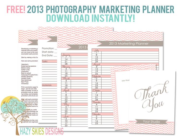 2016 Photography Marketing Planner Getting My Business Started Templates