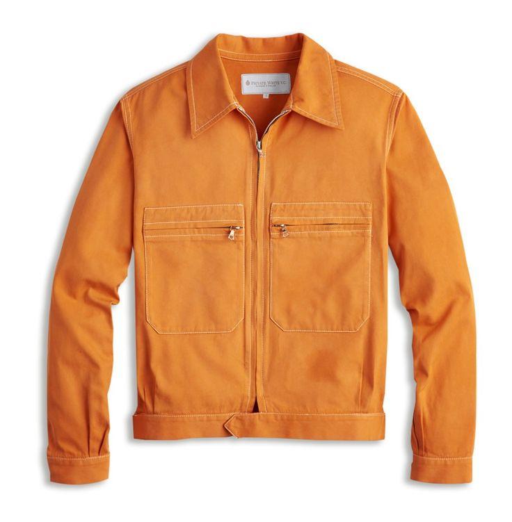 Mechanic Jacket in Orange   Private White V.C.