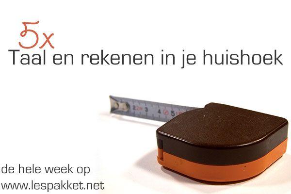 5x taal en rekenen in je huishoek - jufBianca.nl - telefoonboek - meetlint - weegschaal - boekjes - brievenbus