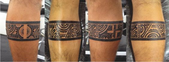tatuagem maori tribal polin sia faixa perna tattoo polynesian band leg. Black Bedroom Furniture Sets. Home Design Ideas