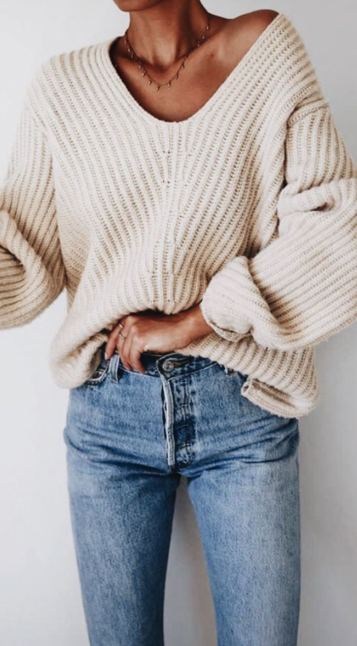 Thick cable knit.