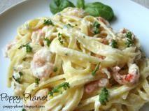 Rețetă Paste cu creveti si sos gorgonzola